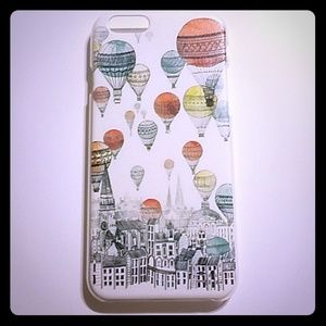 💕Free gift iphone 6 case balloons city sketch